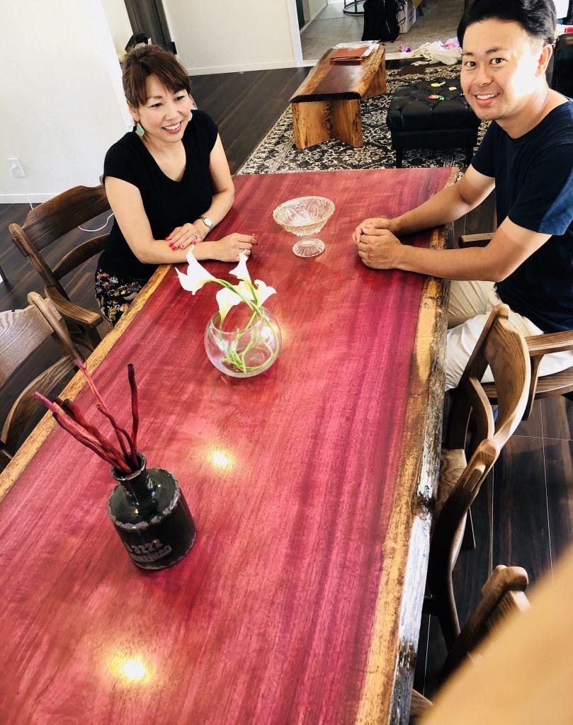 パープルハート テーブル